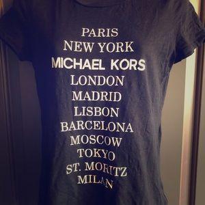 Michael Kors Black T-Shirt - Fun! Paris New York..